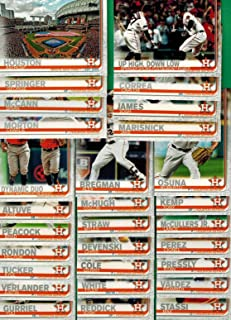 Houston Astros 2019 Topps Complete Mint Hand Collated 29 Card Team Set with Jose Altuve, Alex Bregman and Justin Verlander Plus