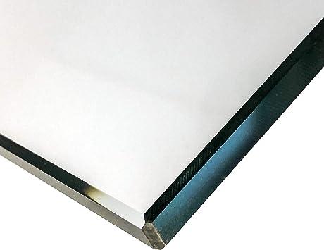 Nach Ma/ß bis 60 x 100 cm Einscheibensicherheitsglas ohne Stempel Glasplatten ESG 4mm Kanten geschliffen und poliert biege- und sto/ßbelastbar. Ecken gesto/ßen klar durchsichtig 600 x 1000 mm