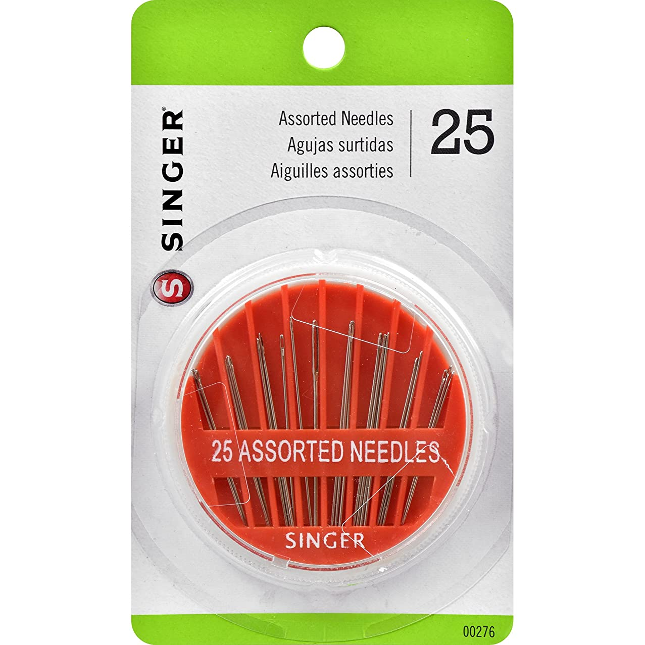SINGER 00276 Assorted Hand Needles in Compact, 25-Count