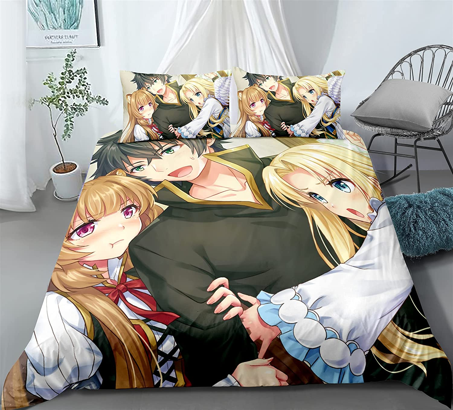 ZQHUAA 3D Animation Duvet SALENEW very popular Cover for Gorgeous Rising The of Shield Her