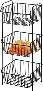 Delfinware 2017BK Black 3 Tier Vegetable Rack