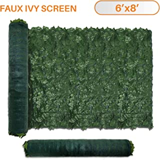 TANG Sunshades Depot 6' FT x 8' FT Artificial Faux Ivy Privacy Fence Screen Leaf Vine Decoration Panel with 130 GSM Mesh Back