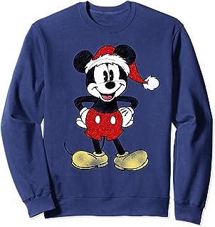 Disney Santa Mickey Mouse Christmas Sweatshirt