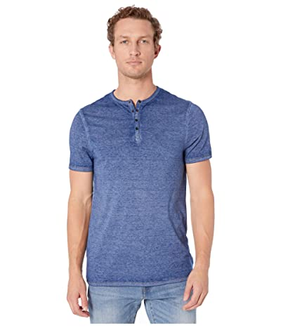 Buffalo David Bitton Kasum Short Sleeve Split Neck Henley (Whale) Men