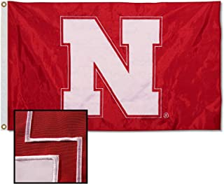 College Flags & Banners Co. Nebraska Cornhuskers Embroidered and Stitched Nylon Flag