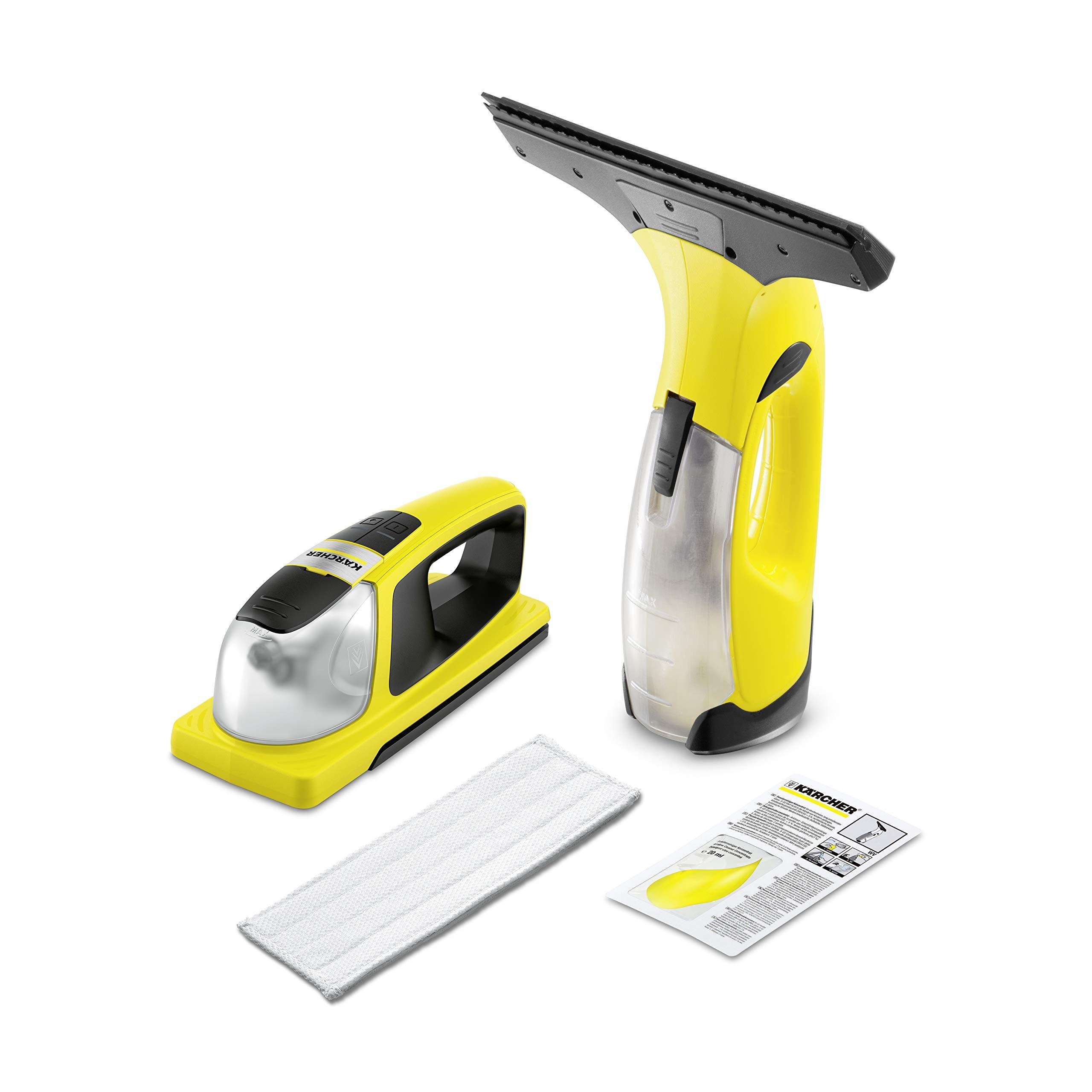 Kärcher 1.633-218.0 Aspirador de Ventanas WV 2 Plus N y Limpiador con vibración KV 4 (duración 35 min, Peso: 0,6 kg, Potencia por Carga de la batería: 75 m2, 2 boquillas Intercambiables): Amazon.es: Bricolaje y herramientas
