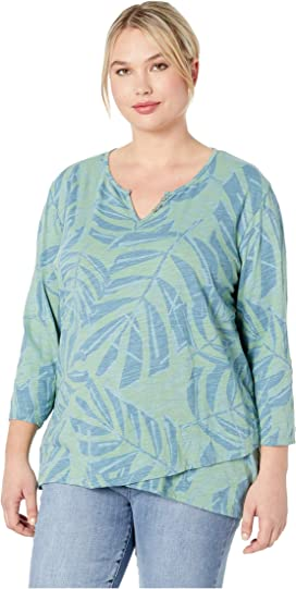 54a6fe866df Extra Fresh by Fresh Produce Plus Size Pinstripe Catalina Top at ...