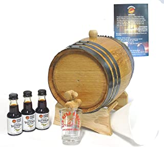 3 Liter charred American Oak whiskey Barrel Flavoring Kit w/Kentucky Bourbon Essence for making your own whiskey flavored alcohol