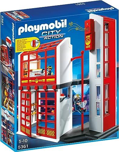 artículos novedosos Playmobil 5361 - Cuerpo de Bomberos Bomberos Bomberos de estación de carga con alarma, 40 x 10 x 50 cm  Envio gratis en todas las ordenes