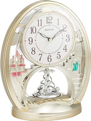 置き時計 回転飾り付き ファンタジーランド783SR ゴールド リズム時計 4SG783SR18