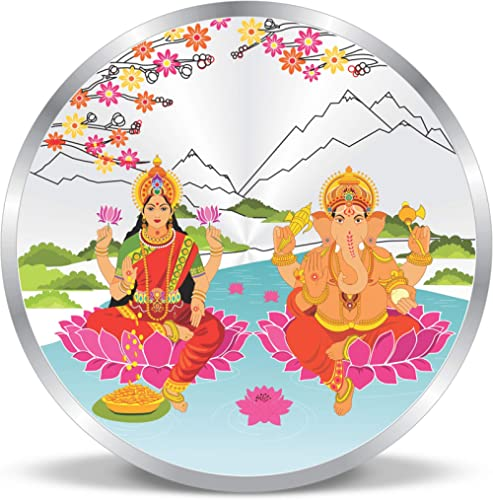 ACPL Precious Moments Shri Laxmi and Lord Ganesh in The Himalayas Multi-Color 999 Purity Silver Coin