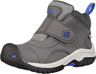 KEEN Unisex-Kid's Kootenay II WP Hiking Boot, Magnet/Baleine Blue, 13 M US Little Kid