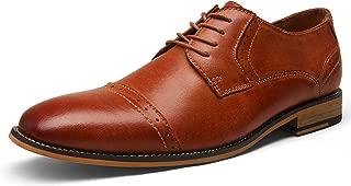 Men's Leather Dress Shoes Derby Oxfords Shoe Lace Up
