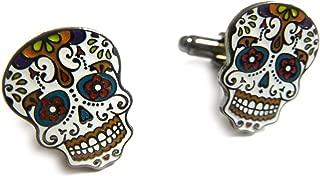 Day of The Dead Dia De Los Muertos Skull Mask Cufflinks Cuff Links Set Pair