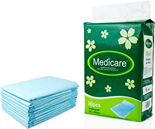 Continuon Extra Absorbent Incontinence Bed Pads with Waterproof Liner (10 Pack, 23x35
