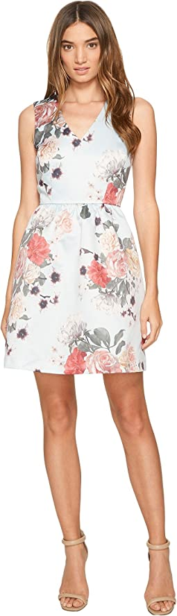 CeCe - Rose - Sleeveless V-Neck Floral