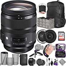 Sigma 24-70mm f/2.8 DG OS HSM Art Lens for Canon EF + Sigma USB Dock with Altura Photo Advanced Accessory and Travel Bundle