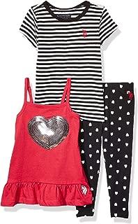 Baby Girl's Striped Knit T-Shirt, Peplum Tunic Tank Top,...