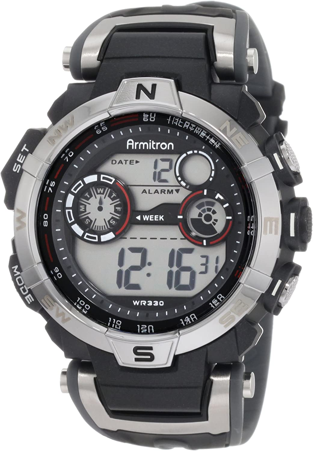 Fashionable Armitron Sport Men's 408231RDGY Digital National products Watch