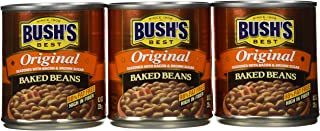 Bush's Best Original Baked Beans, Canned Beans, Baked Beans Canned, Source of Plant Based Protein and Fiber, Low Fat, Gluten Free, 8.3oz (Pack - 6)