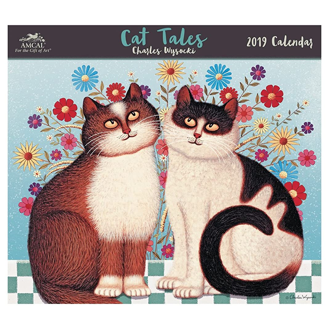 中断頬骨アナウンサーCharles Wysocki Cat Tales 2019 Calendar: With Envelope