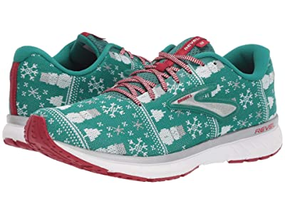Brooks Revel 3 (Green/Red/Silver) Men