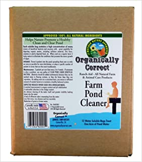 Organically Correct Farm Pond Cleaner, 12 - 4-Ounce Packets