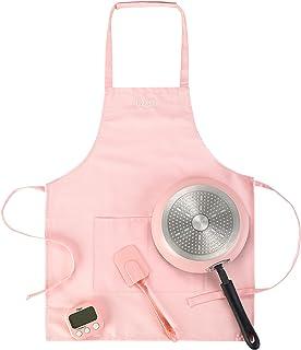 """Ozeri Kids Junior Chef Cooking Essentials Set, 9.5"""", Pink"""
