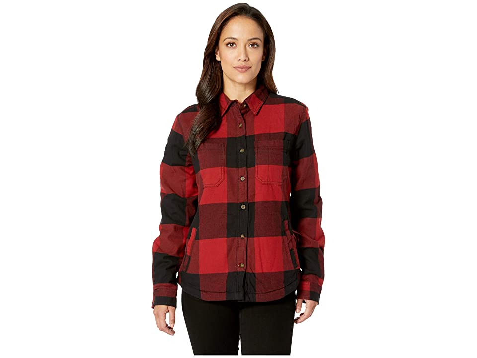 Carhartt Rugged Flex(r) Hamilton Fleece Lined Shirt (Dark Crimson) Women