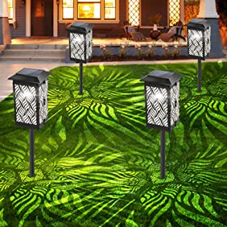 Bebrant Solar Lights Outdoor, Upgraded Solar Pathway Garden Lights Super Bright & Longer Working Time IP65 Waterproof Landscape Lighting for Yard Patio Walkway Landscape Spike Path Light (4 Pack)