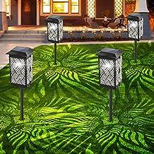 Bebrant Solar Lights Outdoor, Upgraded Solar Pathway Garden Lights Super Bright & Longer Working Time IP65 Waterproof Land...