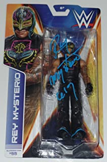 Rey Mysterio Signed Auto'd Action Figure Bas Coa Wwe Ecw Wcw Aaa Lucha Mask A - Beckett Authentication