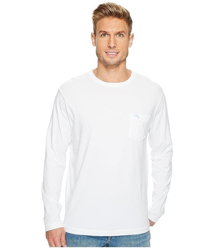 Tommy Bahama  New Bali Skyline Long Sleeve T-Shirt (White) Mens Clothing