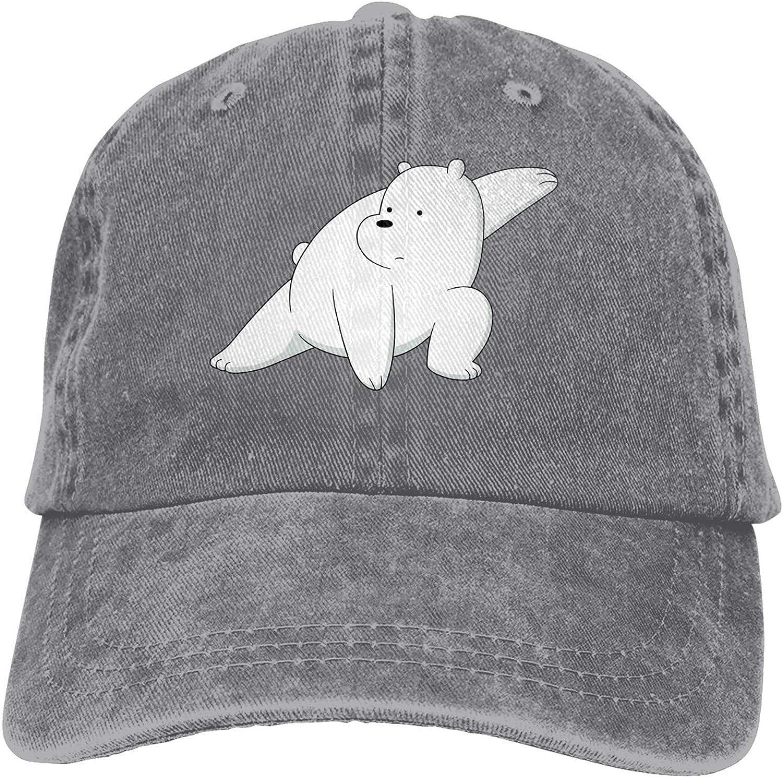 We Bare Bears Ice Bear Baseball Cap, Adjustable Size Dad Hat, Vintage Baseball Hats for Men Woman