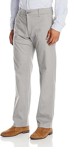 Lee Hommes's Perforhommece Series Extreme Comfort Khaki Pant, Iron, 42W x 32L