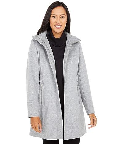 Vince Camuto Hooded Wool Coat V20770-ZA (Light Grey) Women