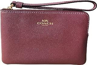 Crossgrain Leather Corner Zip Wristlet