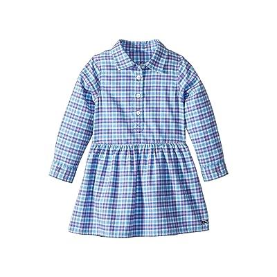 Vineyard Vines Kids Morgan Way Flannel Dress (Toddler/Little Kids/Big Kids) (Ocean Breeze) Girl