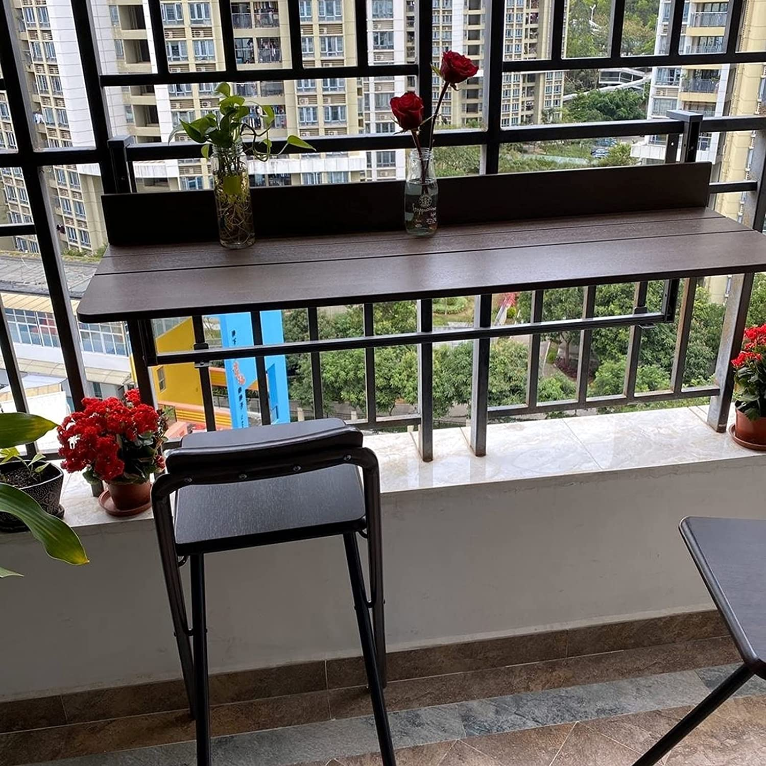 Bar Counter Hanging Folding Table Modern Dining Ranking TOP2 D Balcony Deluxe