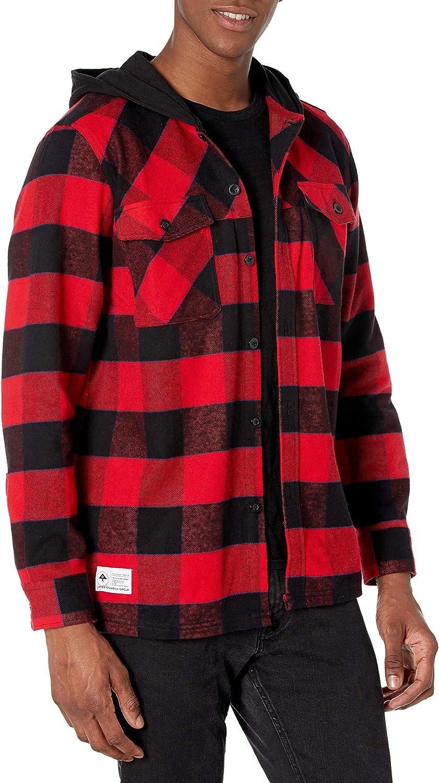 LRG Men's Award Long Flannel Sleeve Shirt Save money