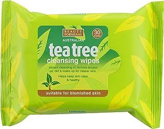 مناديل مبللة لإزالة المكياج من شجرة الشاي من بيوتي فورميولاز، 30 منديل، 60 غرام