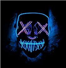Double Color Led – Halloween Led Mask – Led Face Mask – Led Purge Mask..