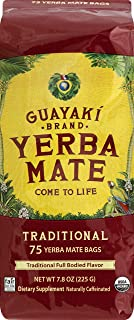 Guayaki Yerba Mate | Organic Alternative to Herbal Tea, Coffee and Energy Drink | Traditional Bags | 40 mg of Caffeine per...