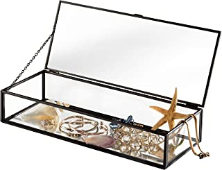 glass box with hinged lid