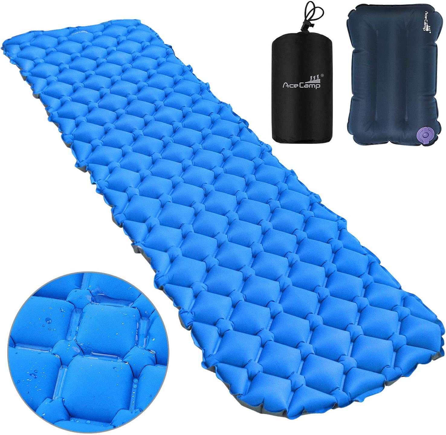 Max 75% OFF AceCamp 2 in 1 Sleeping Ultralight Camping Pad Infl Max 48% OFF