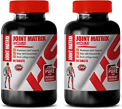 Joint Support Supplements for Women - Joint Matrix Complex - Maximum Joint Support - glucosomine with msm - 2 Bottles 180 Tablets
