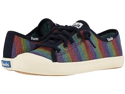 Keds Kids Kickstart Seasonal Toe Cap (Little Kid/Big Kid) (Rainbow Stripe) Girls Shoes