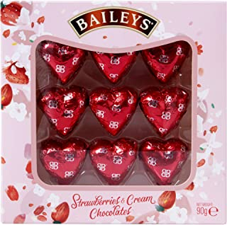 Valentines Day Gift Box of Baileys Strawberry and Cream Hearts - Perfect for Mothers Day 90g (Pack of 2)