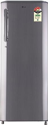 LG 270 L 4 Star Direct Cool Single Door Refrigerator(GL-B281BPZX.DPZZEBN, Shiny Steel, Smart Inverter Compressor)