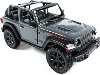 HCK Jeep Wrangler Rubicon 4x4 Convertible Off Road Exploration Diecast Model Toy Car Grey